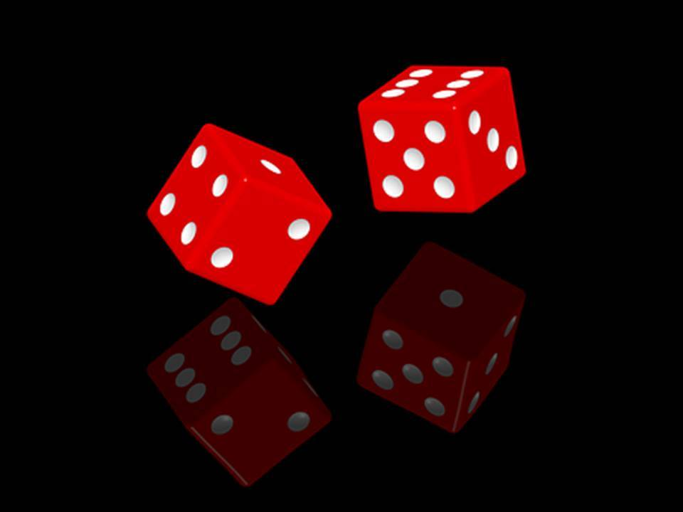red dice on black background