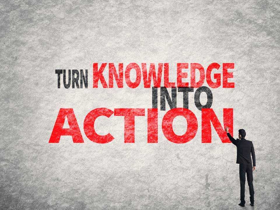 words turn knowledge into action